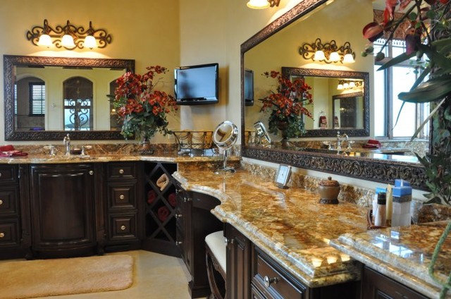 Mediterranean Bathroom by Norm Tessier Cabinets, Inc.