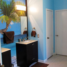 Tropical Bathroom by Design With Your Dime in Mind