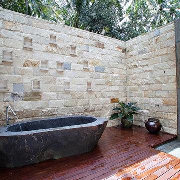 Master Bathroom: Outdoor bath and shower