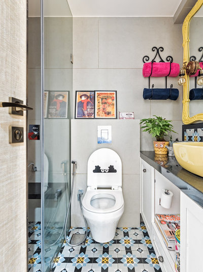Eclectic Bathroom by P S Design