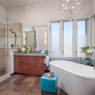 Inspiration for a contemporary bathroom remodel in Santa Barbara
