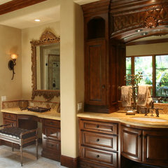 mediterranean bathroom by Quality Woodworks Inc.