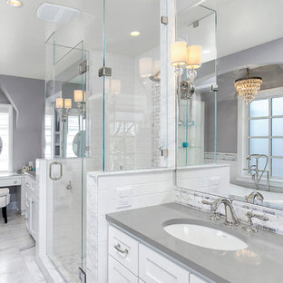 Gray White Bathroom Houzz