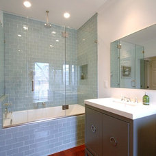 Modern Bathroom by New England Design & Construction