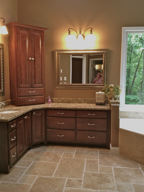 Corner Double Vanity Home Design Ideas Pictures Remodel