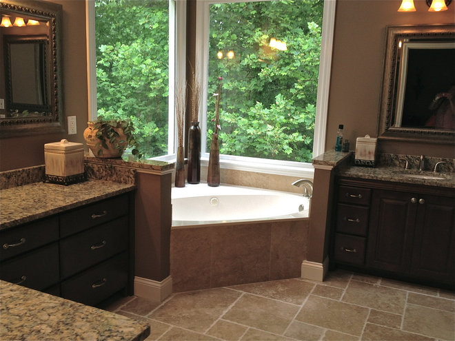 Traditional Bathroom by Catherine Gregory HOME