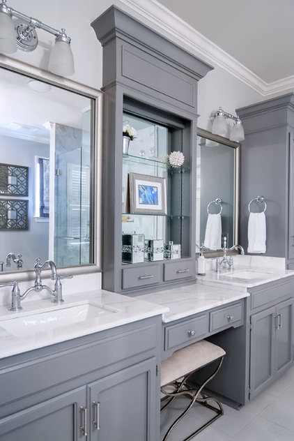 Transitional Bathroom by Decorating Den Interiors