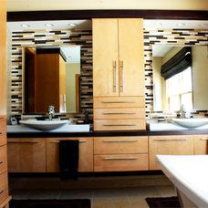 Contemporary Bathroom by Gander Plumbing