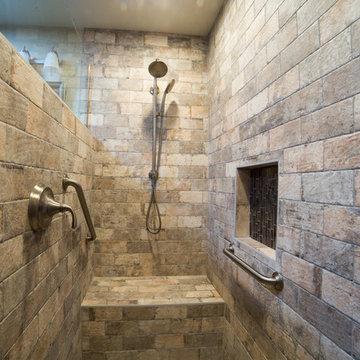 Master Bathroom Remodel with Chicago Brick