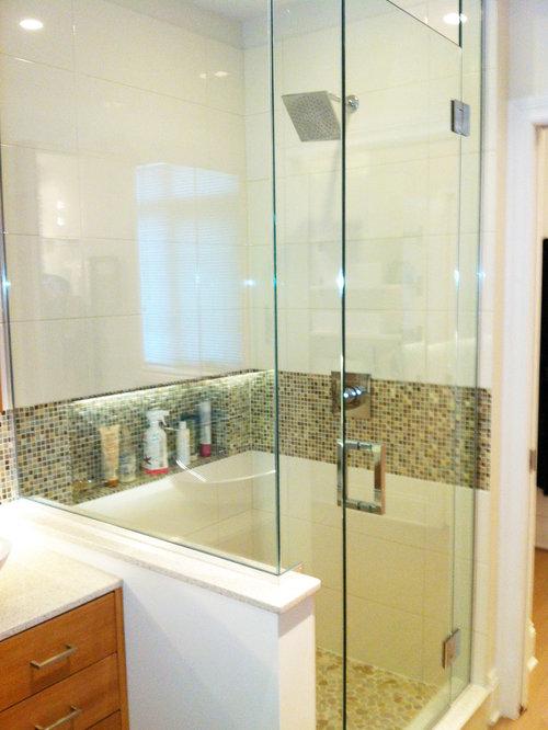 badezimmer mit quarzit waschtisch und linoleumboden. Black Bedroom Furniture Sets. Home Design Ideas