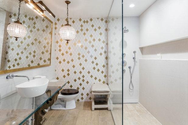 Eclectic Bathroom by Lena Lalvani