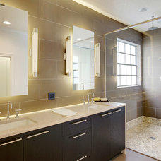 Transitional Bathroom by Sunscape Homes, Inc