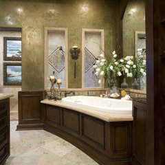 mediterranean bathroom by Robeson Design