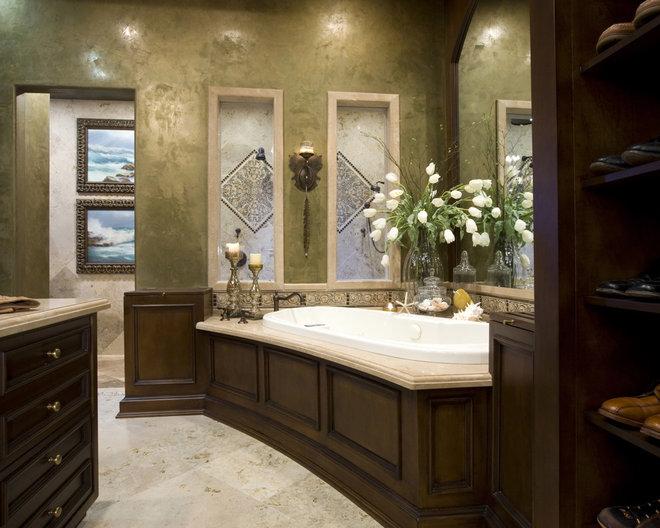 Mediterranean Bathroom by Robeson Design