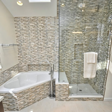 Master Bathroom - Shower and Corner Tub