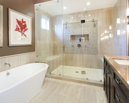 Bathroom Design Ideas Remodels Photos With Brown Walls