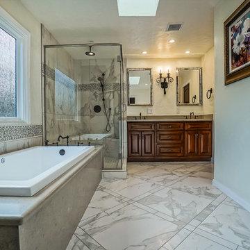 Master Bathroom, Spanish meets Cape Cod.