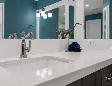 Master Bathroom Suite Renovation - Corner Vanity
