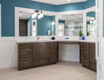 Master Bathroom Suite Renovation - Makeup Desk