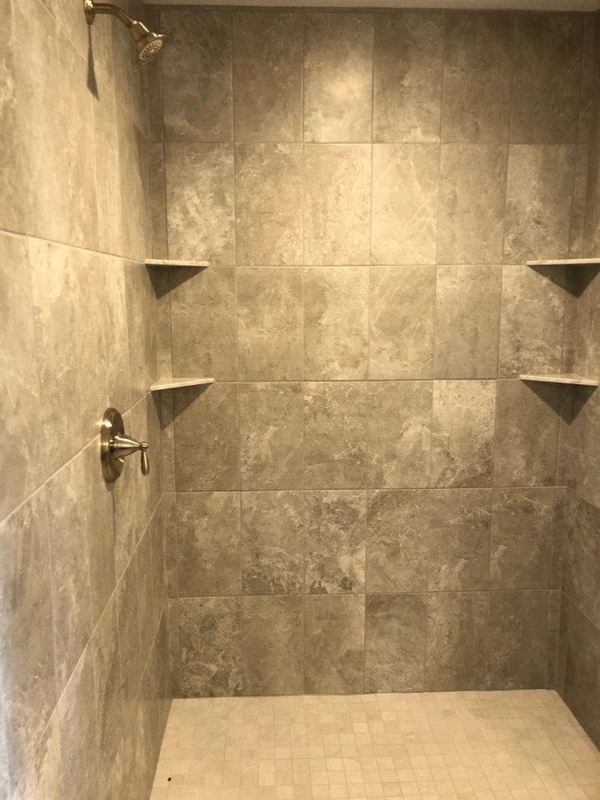 Master Bathroom Tile Work in Shower