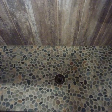 Master Bathroom Transformed With Reclaimed Wood Tile