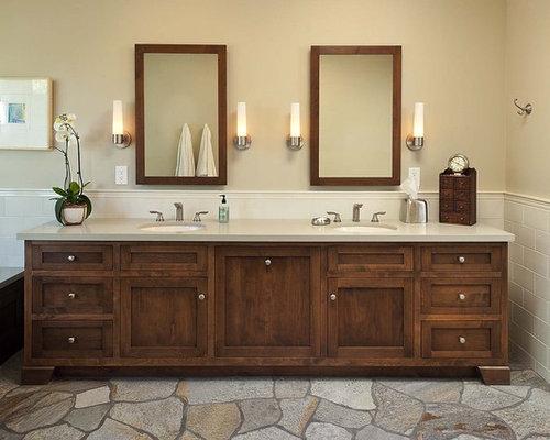 Inspiration for an eclectic bathroom remodel in Los Angeles - Vanity Hamper Houzz