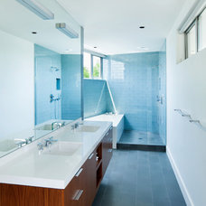 Midcentury Bathroom by Walker Workshop