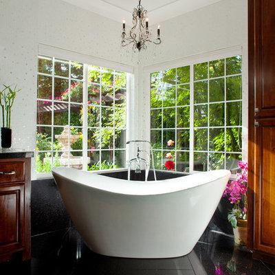 Trendy freestanding bathtub photo in Atlanta
