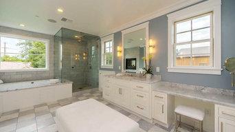 Master Bathroom with Corner Glass Shower