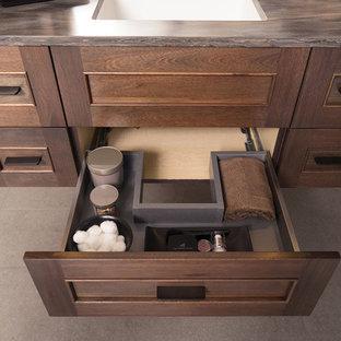 Master Bathroom with Floating Vanity & Plumbing Drawer Under The Sink Storage