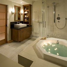 Asian Bathroom by RemodelWest