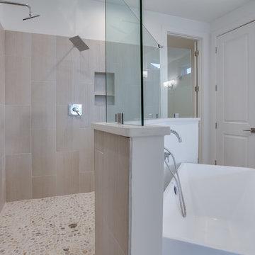 Master Bathroom with walk through shower