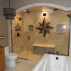 Mediterranean Bathroom by Fusillo Flooring Company