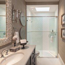 Contemporary Bathroom by AlliKristé Custom Cabinetry and Kitchen Design