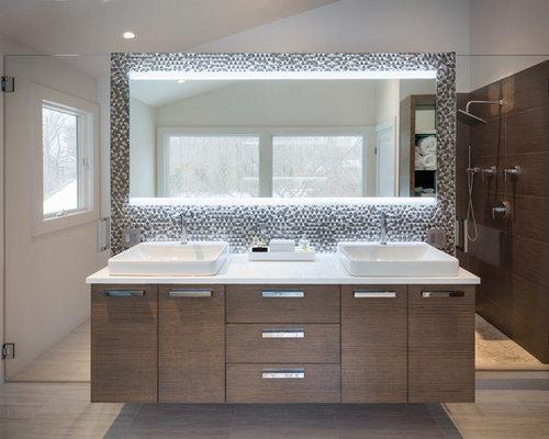 inspiration for a modern bathroom remodel in new york - Modern Home Design Ideas
