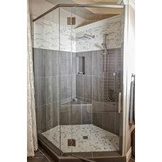 Transitional Bathroom by Harrison Design Associates Inc.