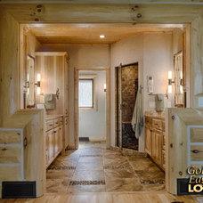 Rustic Bathroom by Golden Eagle Log Homes