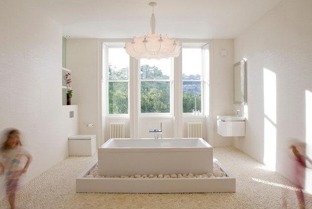 kieselsteinboden im bad so gelingt der nat rliche spa look. Black Bedroom Furniture Sets. Home Design Ideas
