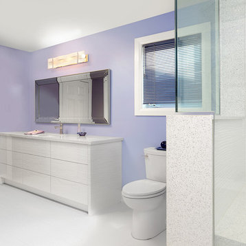 Budget Modern Counter Material Engineered Quartz Bathroom Design Ideas