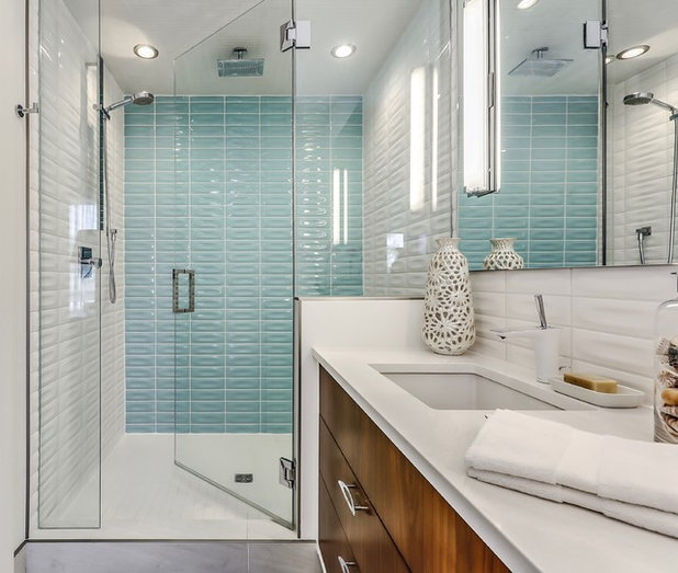 Midcentury Bathroom by Sustainable Living Environments