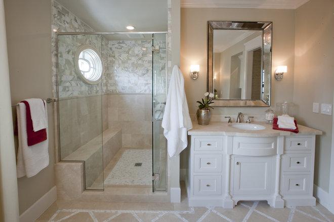 Transitional Bathroom by Spinnaker Development