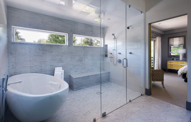 Contemporary Bathroom by Stone Cloud Design Build
