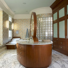 Eclectic Bathroom by Kelsie Hornby, ASID, Elegant Designs, Inc.