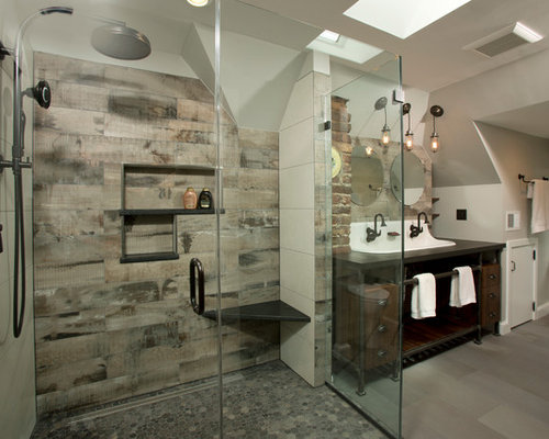 SaveEmail - Reclaimed Wood Tile Houzz