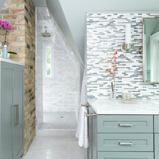 Transitional Bathroom by Farrell and Sons, LLC