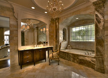 WHERE DID THE MARBLE ON THE WALLS AND FLOOR COME FROM