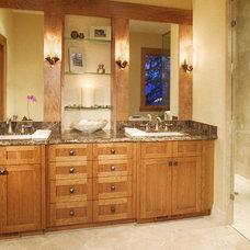 Rustic Bathroom by Karlene Hunter Baum, Allied ASID