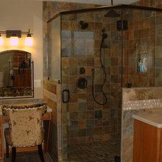 Rustic Bathroom by M's Kitchen & Bath Studio
