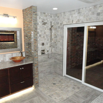 Master suite remodel with barrier free shower