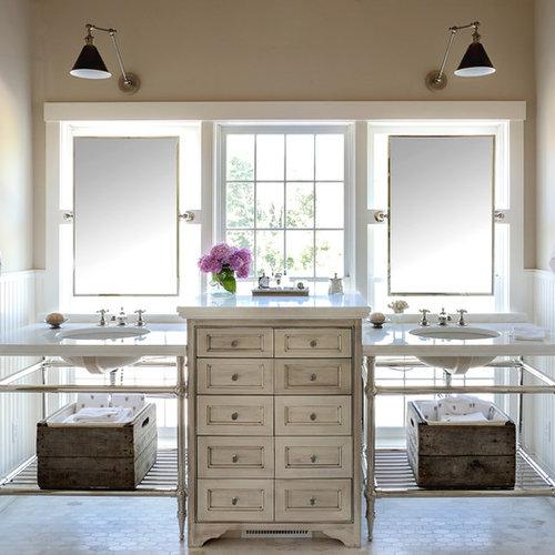 Große Shabby-Chic-Style Badezimmer Ideen, Design & Bilder | Houzz